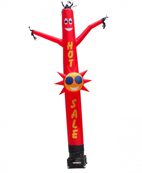 HOT SALE Air Dancer with sun shape. This inflatable HOT SALE air dancer will promote your businesses sale like no other product or service can. Get your businesses  sale noticed today.  Instead of spending money on mailers, internet ads, permanent signs, or sign spinners; spend a small fraction of the cost and reach even more potential customers than ever before with a dynamically moving/dancing HOT SALE air dancer!