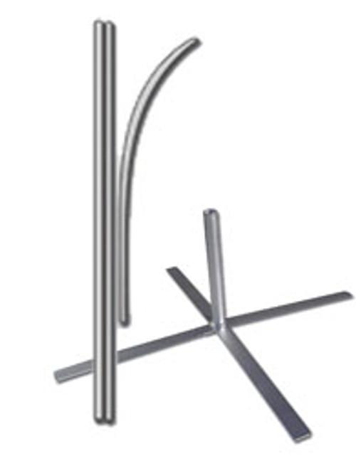 12ft Flag X Stand Pole Set