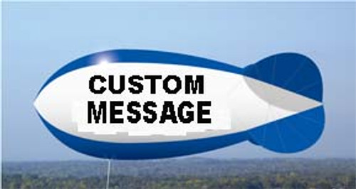 Custom 7ft Blimp with Artwork 2 Sides