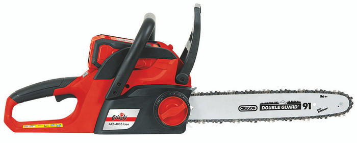 Grizzly AKS 4035 Cordless Battery Chainsaw - 40v range