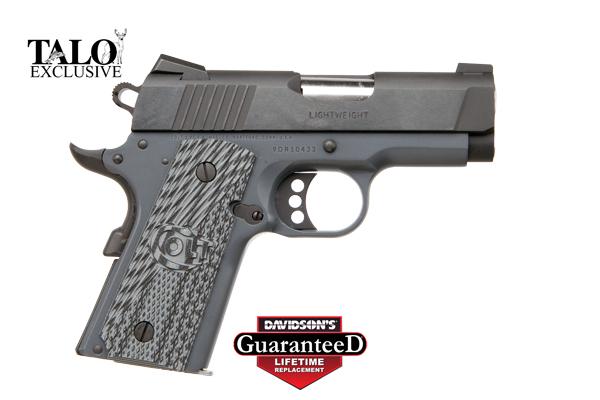 Colt 1911 Defender - 9mm - TALO - Combat Grey Frame- G10 Grips - CLIMAGS
