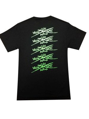 SHCA Faded T-Shirt Black w/ Green Logo