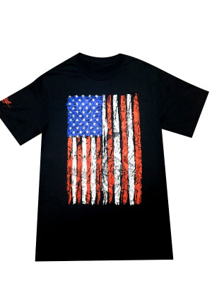 SHCA Flag T-Shirt Black w/ Flag Logo