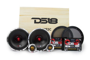 "DS18 Deluxe2C 6.5"" 2 Way Pro Audio SQ Component Speaker System With Crossovers"
