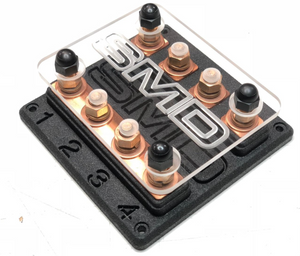 SMD Heavy Duty Quad ANL Fuse Block Copper