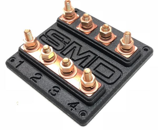 SMD Heavy Duty Quad ANL Fuse Block Copper