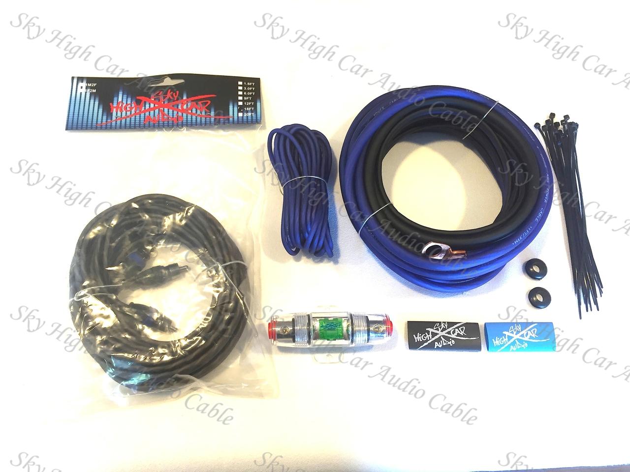 Sky High Car Audio 8 OFC Amp Kit