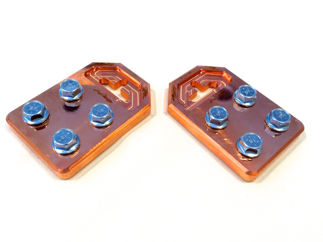 Copper Sky High Car Audio Flat 4 Spot Battery Terminals