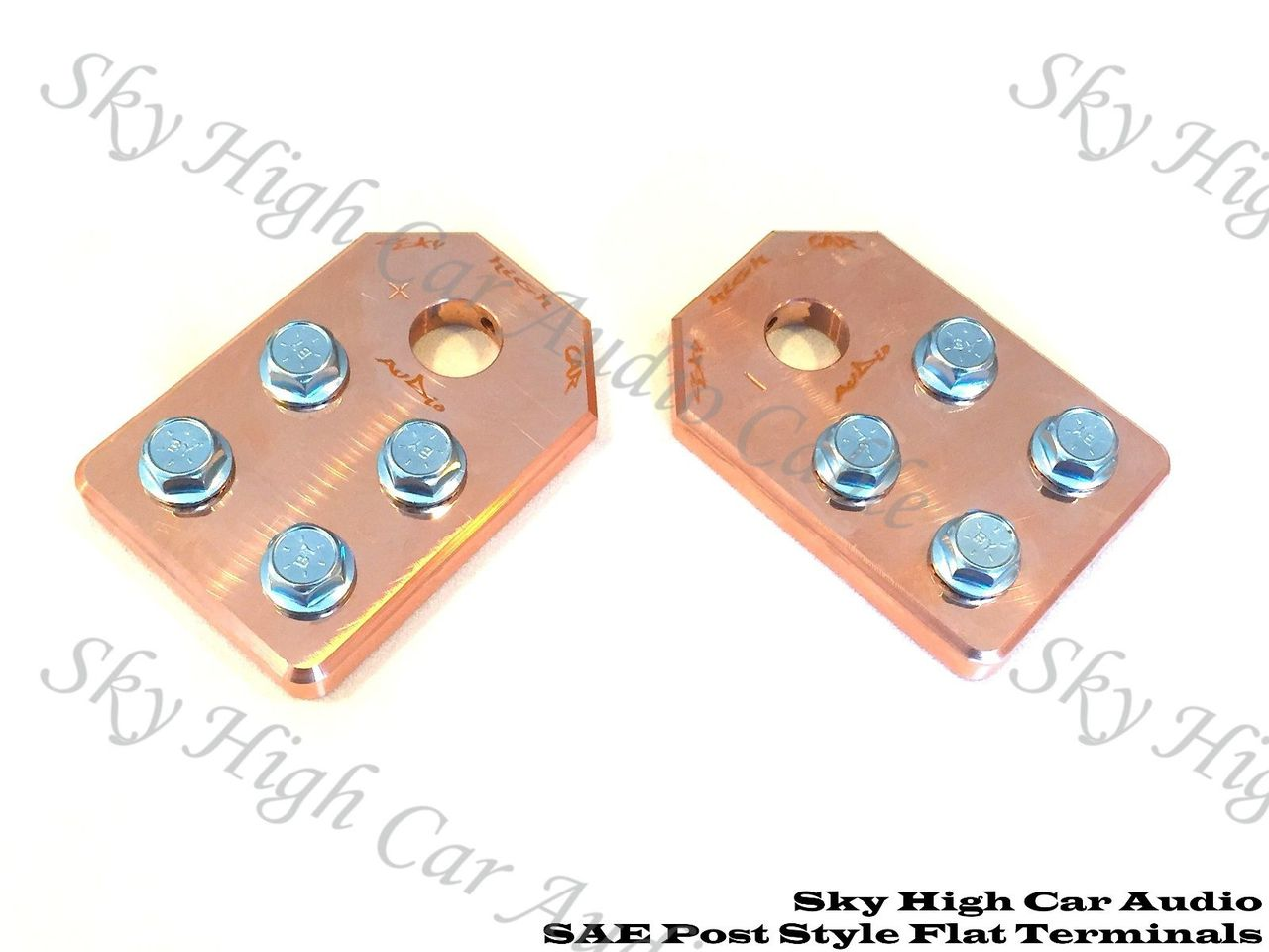 Copper Sky High Car Audio SAE Flat 4 Spot Battery Terminals
