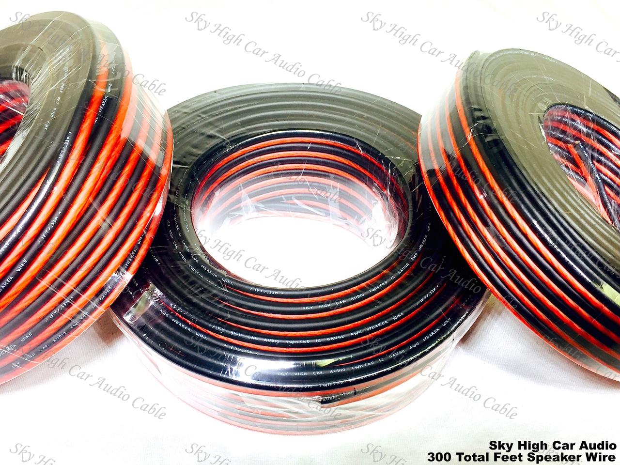 100' feet EACH 12 14 & 16 Gauge AWG 300' Speaker Wire