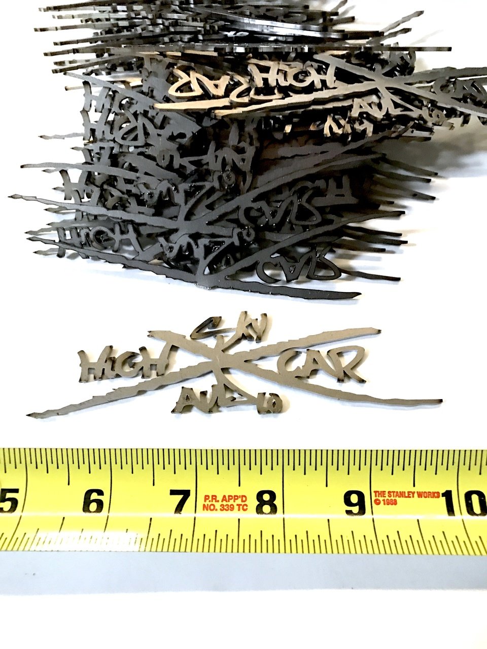 "SHCA 5"" Metal X Logo"