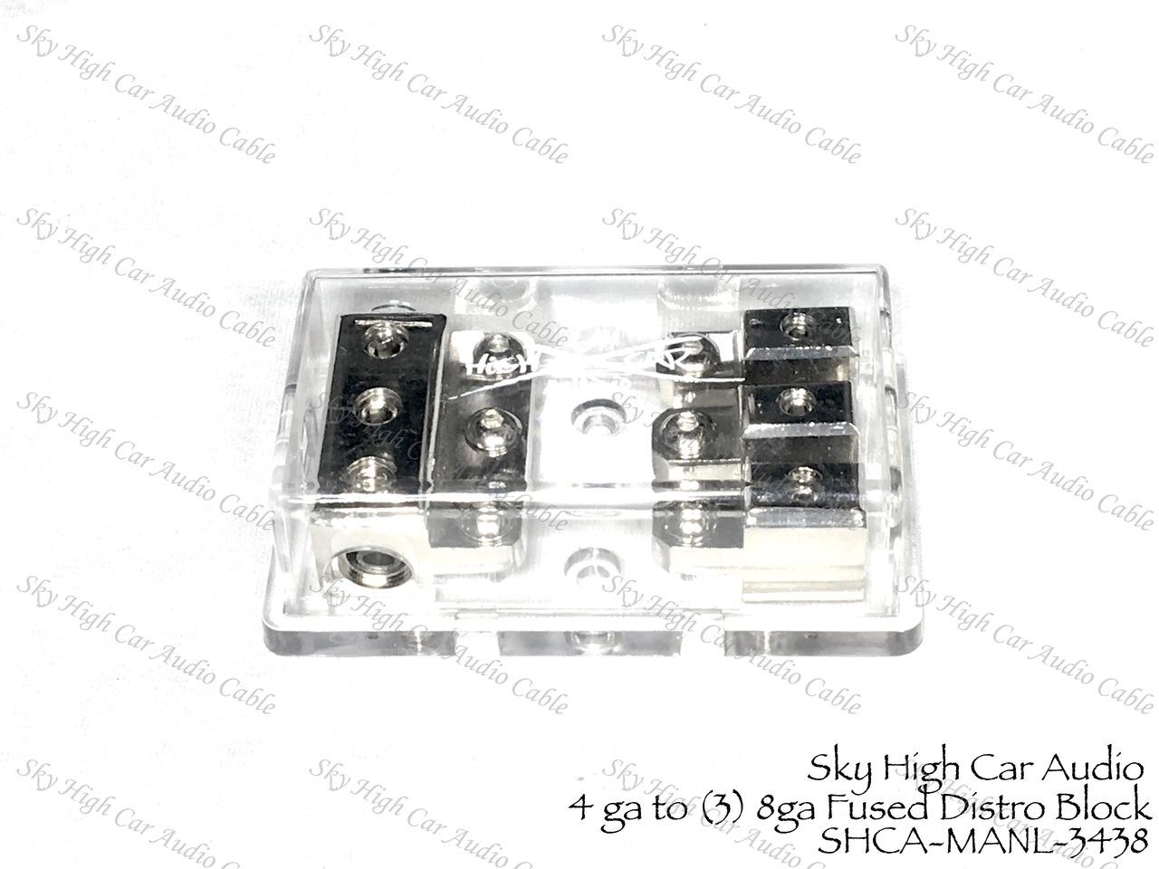 (3) 4ga to (3) Separate  8 ga Mini ANL Fused Distribution Block