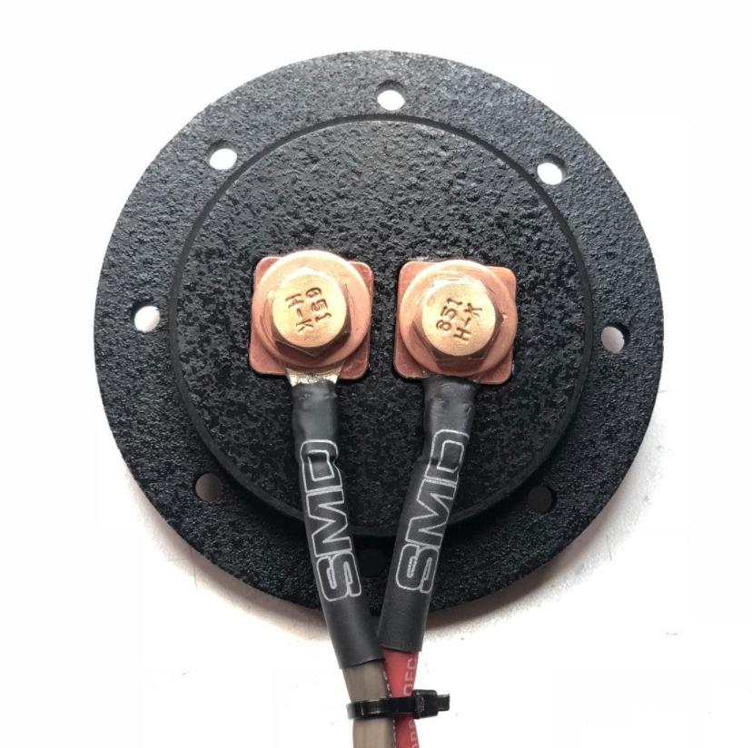"SMD 1 Channel Heavy Duty Speaker Terminal (Copper) (3/4"" PVC Black) (Round)"