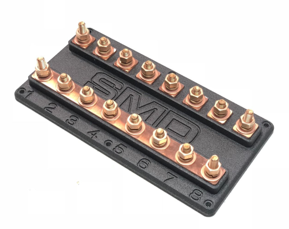 SMD Heavy Duty Octo ANL Fuse Block Copper