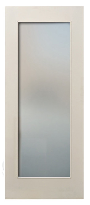 Mdf White Primed 80 Quot Interior Door 1 Lite Frosted Glass