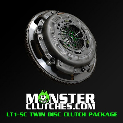 Monster LT1-SC Twin Disc Clutch and Flywheel Package (Torque Capacity: 1000)