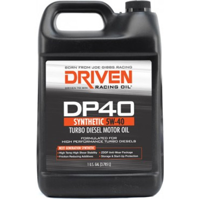 Joe Gibbs DRIVEN DP40 - High Zinc Synthetic Diesel Oil 5W-40 Gallon Jug, Part #JGR-02508