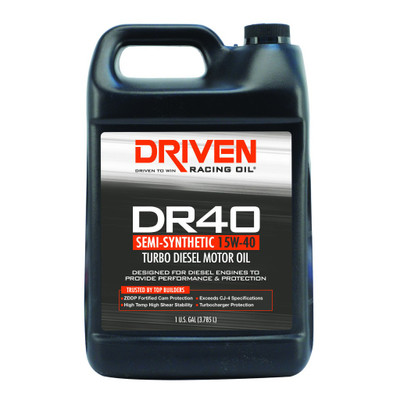 Joe Gibbs DRIVEN DR40 - High Zinc Semi-Synthetic Diesel Oil 15W-40 Gallon Jug, Part #JGR-05408