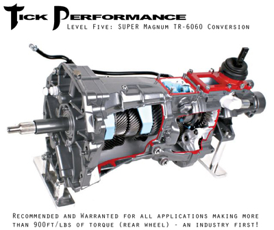Tick Performance Level 5 SUPER Magnum TR-6060 Conversion (900RWTQ and up) for 98-02 Camaro & Firebird