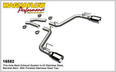 """Magnaflow 2.5"""" Stainless Steel Street Series Cat-Back for 2010+ Camaro SS V8 6.2L; Excl. Convertible (5"""" Tips)"""