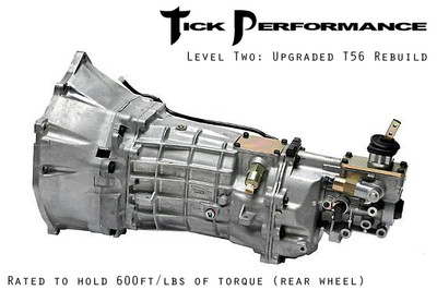 Tick Performance Level 2 Upgraded T56 Rebuild (600RWTQ) for 1997-2007 Corvette & Z06