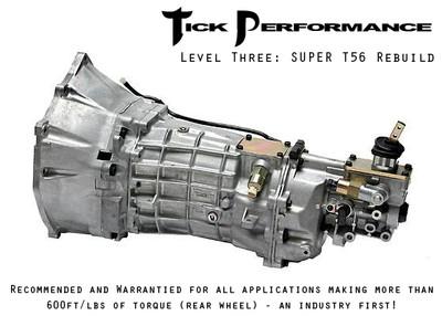 Tick Performance Level 3 SUPER T56 Rebuild (600RWTQ and up) for 1997-2007 Corvette & Z06