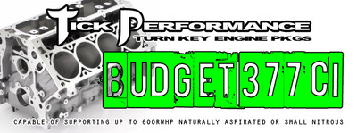 Tick Performance Budget 377ci Turn-Key Engine Package for 2010-14 Camaro SS