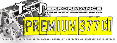 Tick Performance Premium 377ci Turn-Key Engine Package for 2010-14 Camaro SS