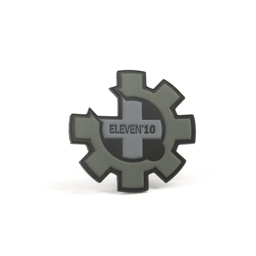 "2.75"" PVC Eleven 10 Logo Patch - Black"