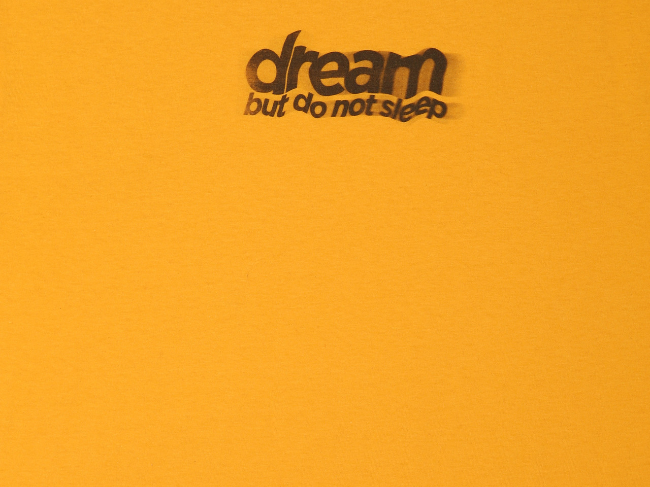 Gold Short Sleeved T-shirt with DBDNS Lo-fi Photocopy Graphic
