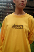 Gold Long Sleeved T-shirt with DBDNS Lo-fi Photocopy Graphic