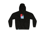 Black Hoodie With Multi-Coloured Photo Light Leak 2 Print