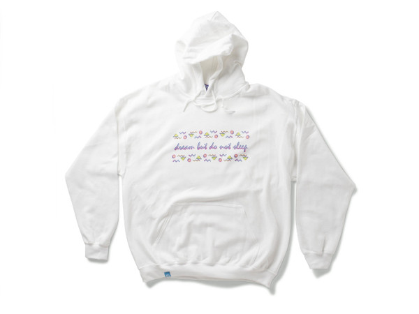White Hoodie With 80's Geometric Design