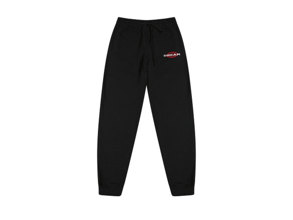 Black Joggers With Dream Globe Embroidery