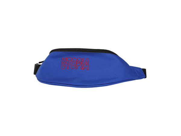Royal Blue Side Bag With Utopia Embroidery