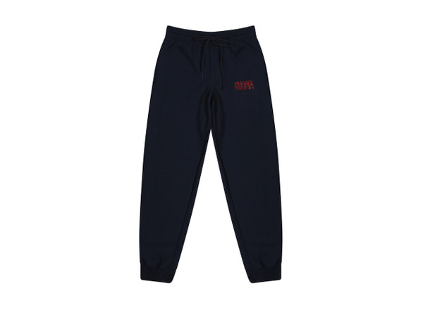 Navy Joggers With Utopia Embroidery