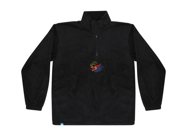Black Fleece With Chinese Dragon Embroidery