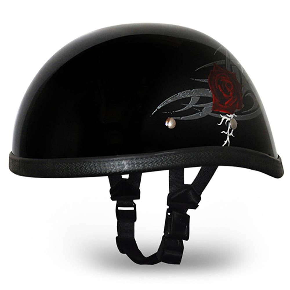 Ladies | Womens Rose Novelty Motorcycle Helmet by Daytona - Size XS-2XL