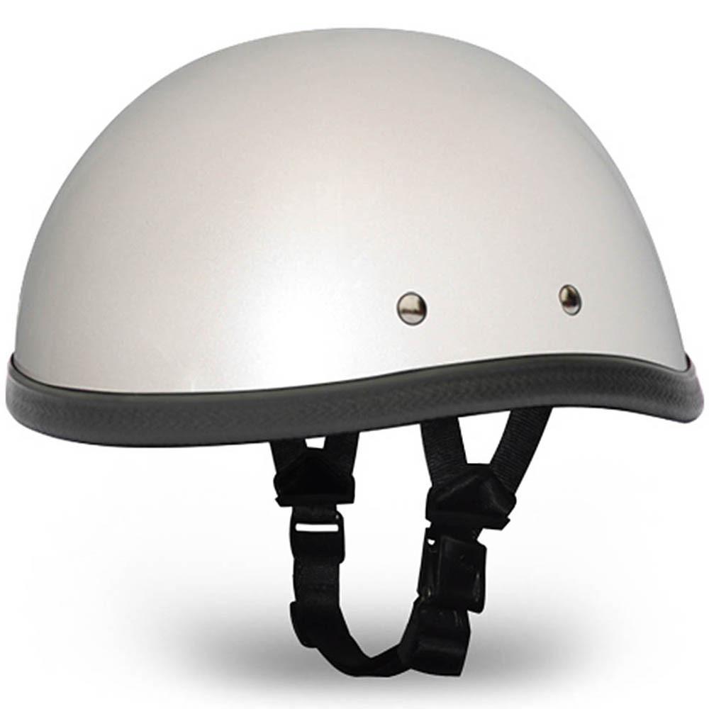 Pearl White Novelty Motorcycle Helmet   Novelty Helmet - Daytona XS S M L XL 2XL