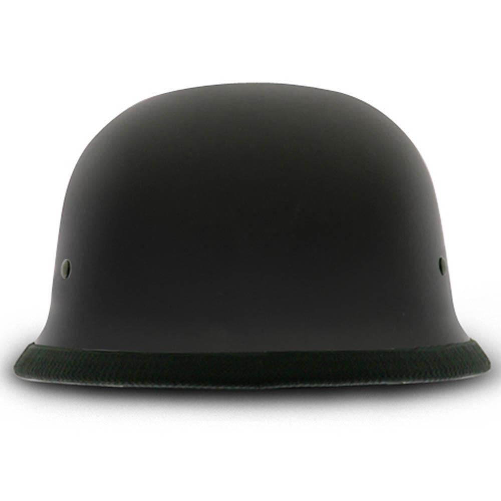 Matte Black German Novelty Helmet | Flat Black Novelty Helmet by Daytona XS-2XL