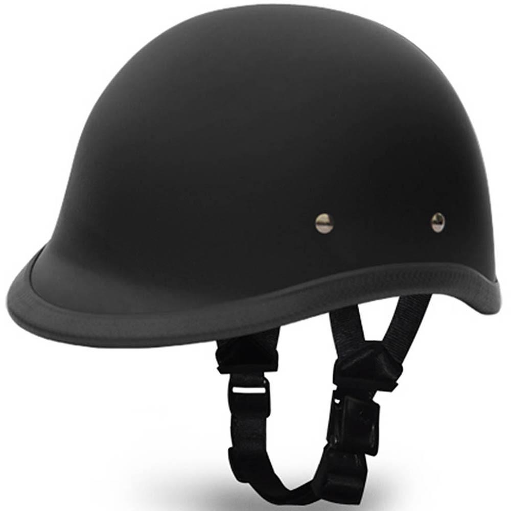 Flat Black Hawk Novelty Motorcycle Helmet | Polo Helmet by Daytona XS-2XL