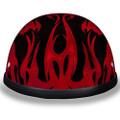 Novelty Helmet - Flames Red by Daytona - 6002FRD