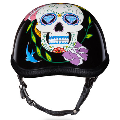 Sugar Skull | Diamond Skull Novelty Motorcycle Helmet by Daytona XS S M L XL 2XL