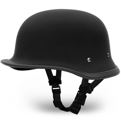 Matte Black German Novelty Motorcycle Helmet | Novelty Helmets by Daytona XS-2XL