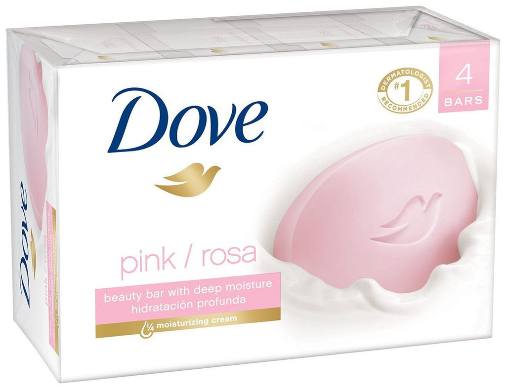 Dove Bar Soap Pink 4x4.25oz