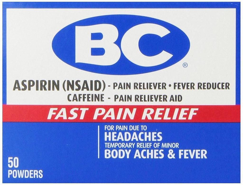 BC Aspirin Fast Pain Relief Powder, 50 Count