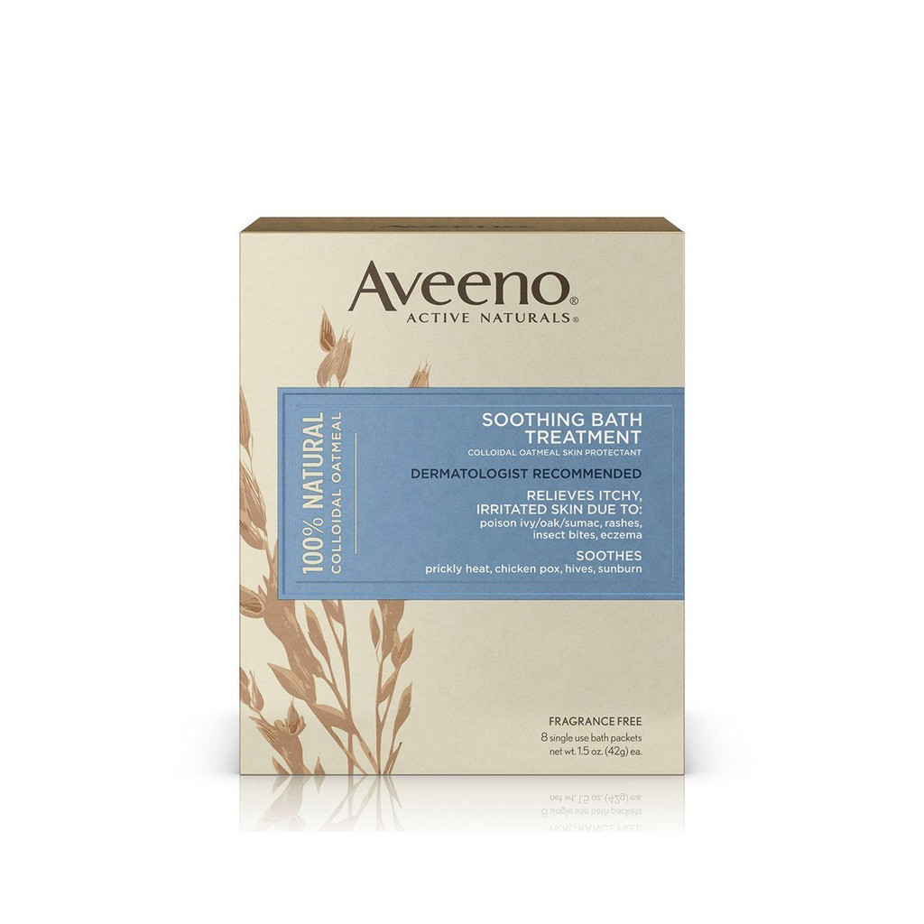 Aveeno Soothing Bath Treatment, 8 Count, net wt. 1.5oz