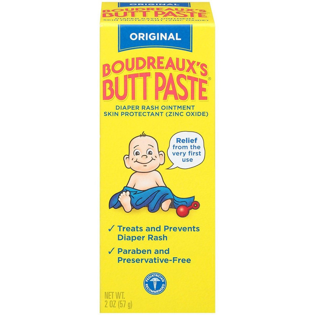 Boudreaux's Butt Paste Diaper Rash Ointment, Original, 2 Ounce
