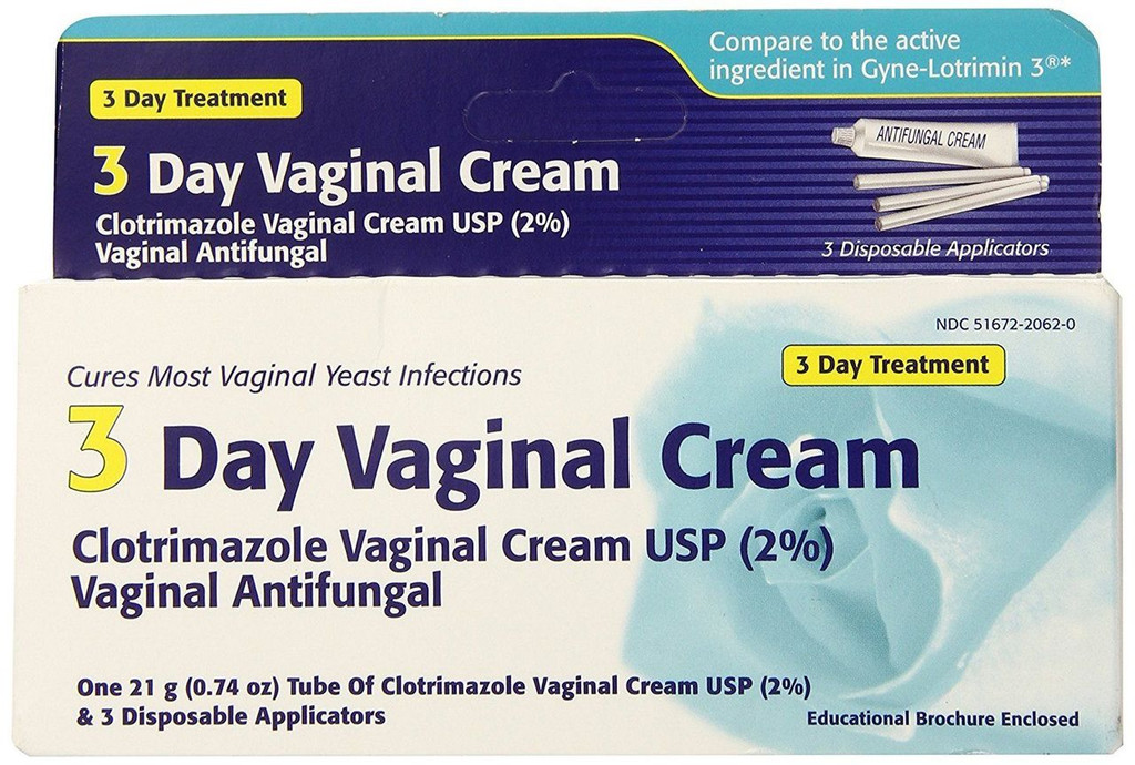 Clotrimazole 3 Day Vaginal Anti-fungal Cream 0.74 Oz