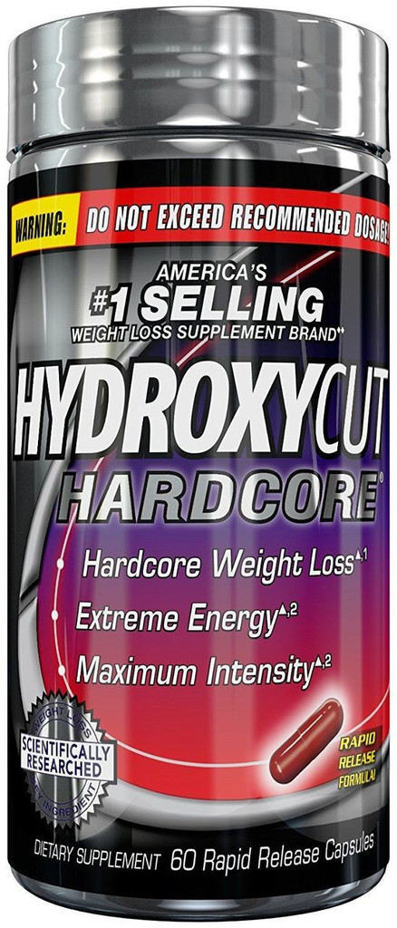Hydroxycut Hardcore, America's #1 Selling Weight Loss Brand, 60 ct